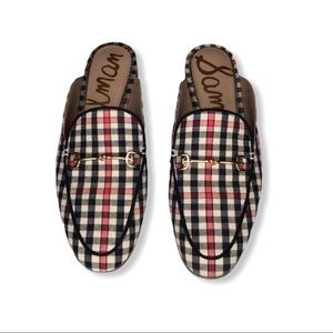 Sam Edelman 6.5 Lennie Shepherds Plaid Flats.